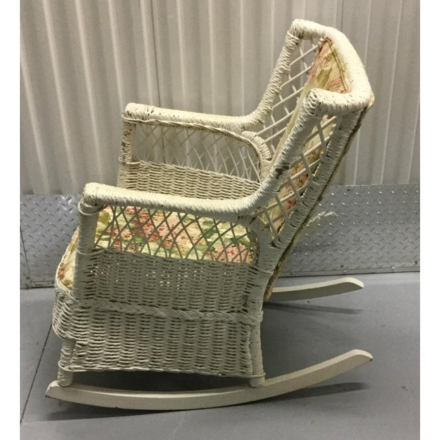 Vintage Wicker Rocking Chair - Image 5 of 10