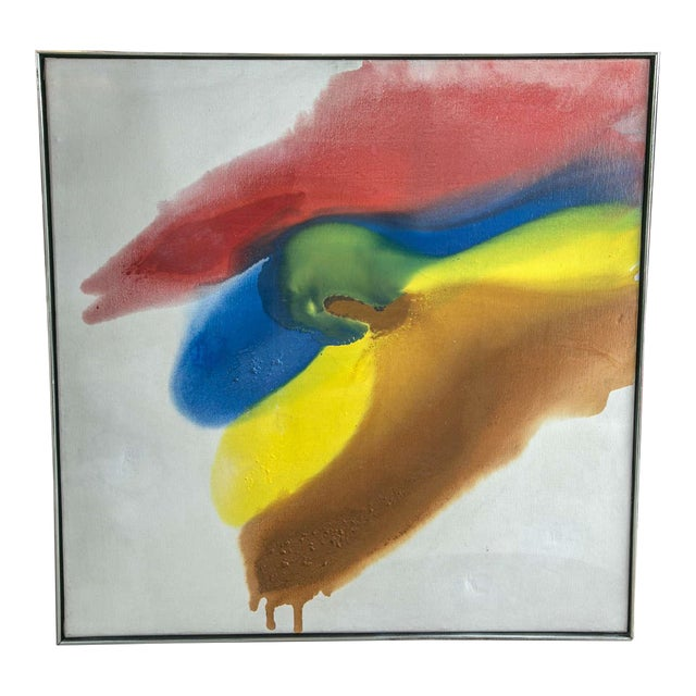 1960s Abstract Colorful Painting For Sale