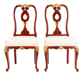 Image of Red Windsor Chairs