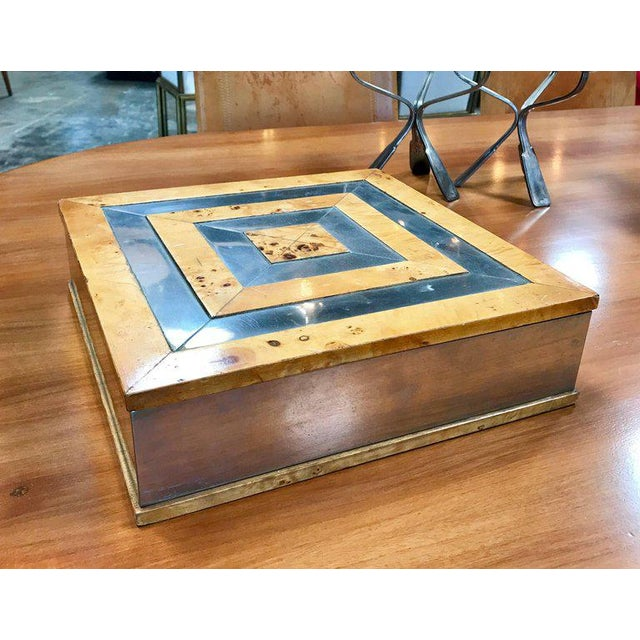 Mid-Century Modern Tommaso Barbi 1960 Jewelry Box in Birch For Sale - Image 3 of 8