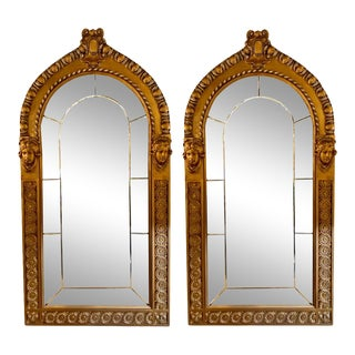 Pair of Neoclassical Wall or Console Mirrors, Giltwood Carved For Sale
