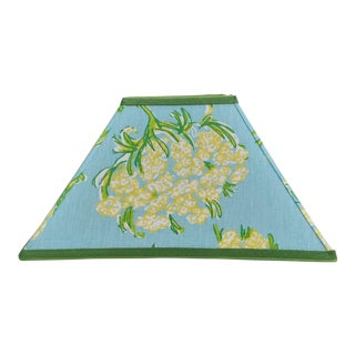 Lilly Pulitzer Fabric Square Coolie Lampshade Large Blue For Sale