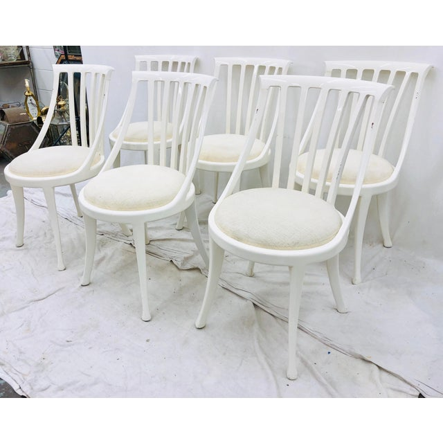 Set Vintage Poltrona Frau Dining Chairs For Sale - Image 11 of 13