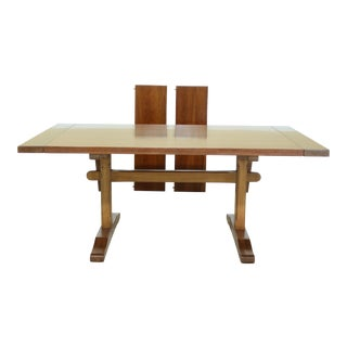 Stickley Solid Cherry Trestle Dining Room Table For Sale