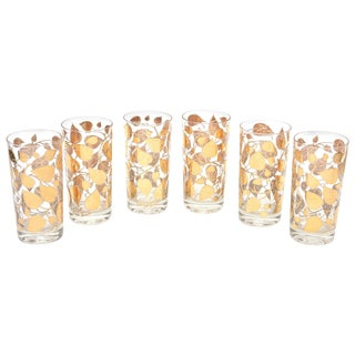 1960s Georges Briard Signed Mid Century Modern Glasses - Set of 6 For Sale
