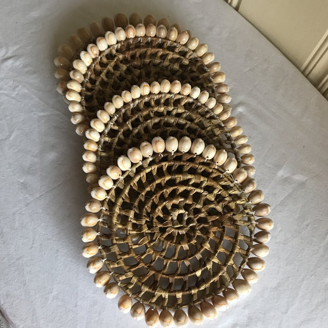 Tan Boho Beach House Seashell Trivets - Set of 4 For Sale - Image 8 of 8