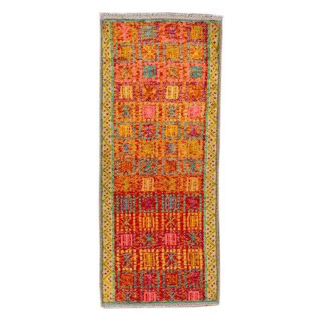 """Modern Gabbeh Rug, 2'0"""" X 5'0"""" For Sale - Image 10 of 10"""