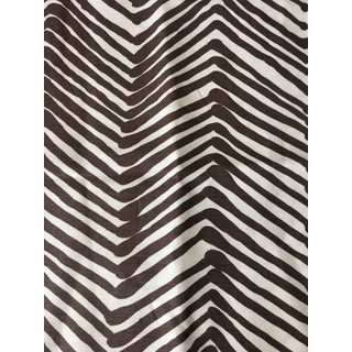 Quadrille Alan Campbell Brown Zig Zag Fabric 1 Yard For Sale