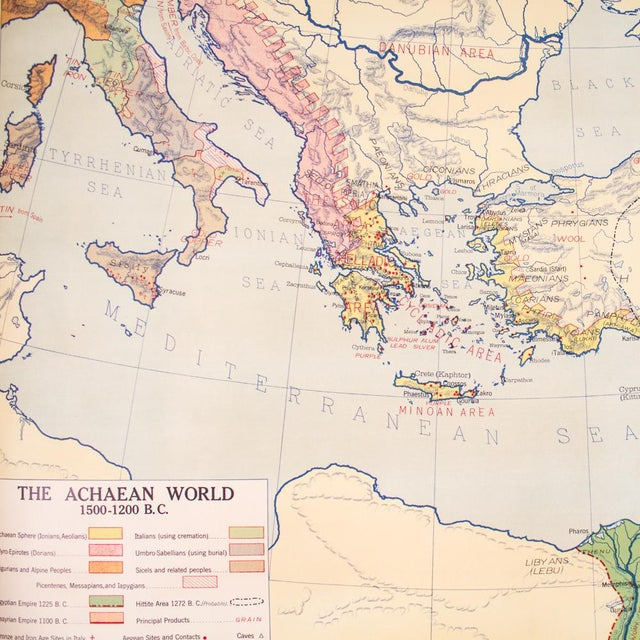 Vintage Pull Down Map of Oriental Empires | 1940s Industrial For Sale - Image 4 of 8