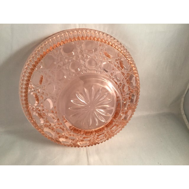 Vintage Peach Glass Dish For Sale - Image 6 of 10