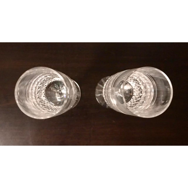 1980s Vintage Galway Irish Crystal Claddagh Ring Fluted Champagne Flutes-a Pair For Sale In Saint Louis - Image 6 of 8