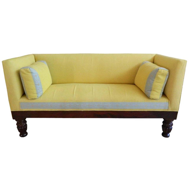 19th Century Classical Box Settee or Sofa For Sale
