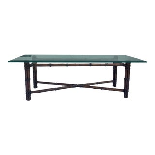 1960s McGuire Coffee Table For Sale