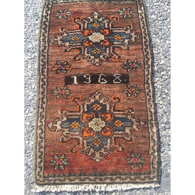 "Vintage Anatolian Turkish Rug - 1'7"" X 2'10"" - Image 3 of 9"
