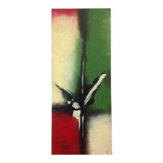 Modern Multi Colored Art on Canvas For Sale