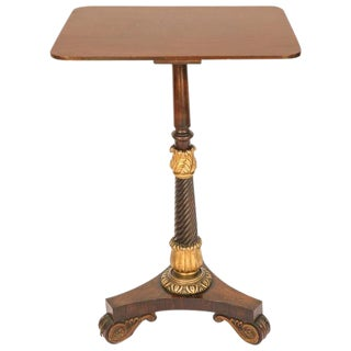 19th C. English Regency Occasional Table For Sale