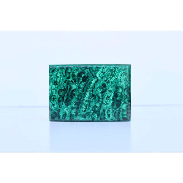 1970s Malachite Box For Sale - Image 5 of 6