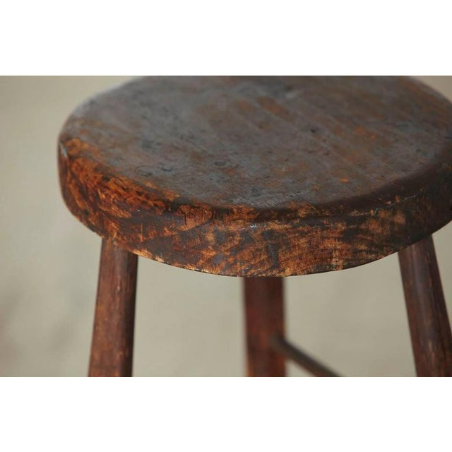 Late 19th Century Late 19th Century Primitive Rustic Three Legged Stool For Sale - Image 5 of 6