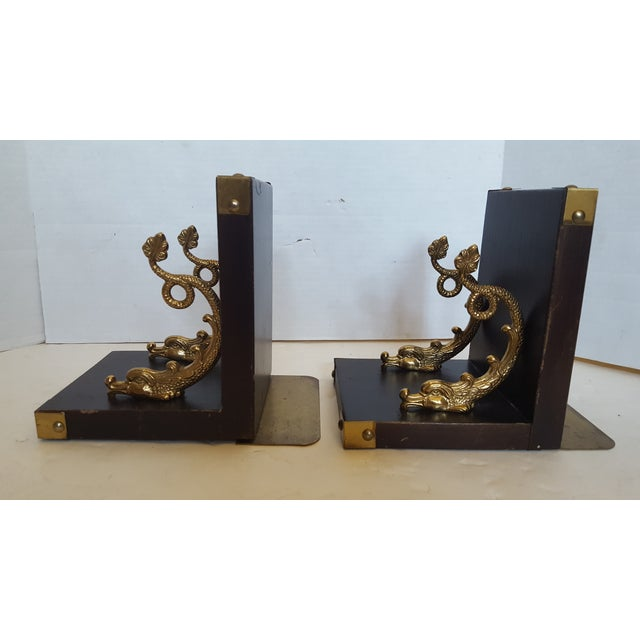 Brass Dolphin Bookends - A Pair - Image 3 of 4