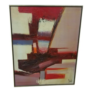 Carlo of Hollywood Mid-Century Modern Abstract Painting