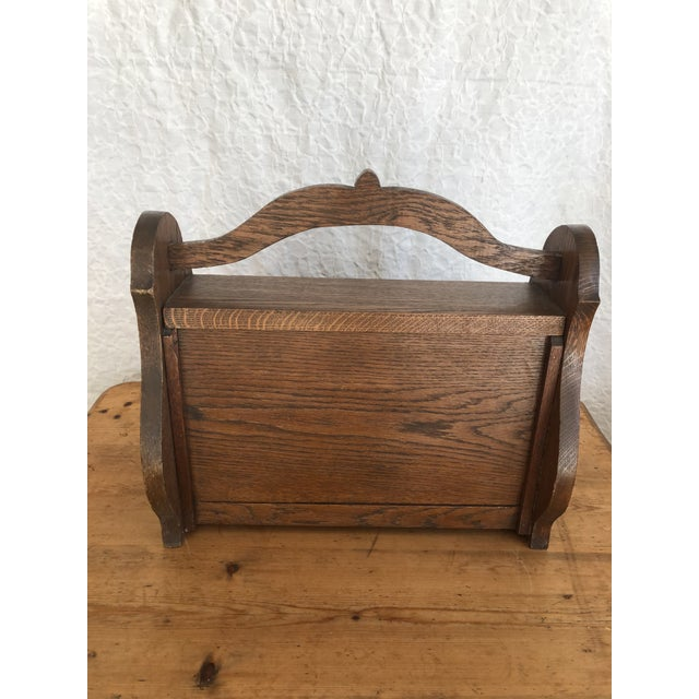 Mid 19th Century Mid 19th Century Victorian Firewood Pellet Bin Deeply Carved Lions Head Fireplace Hearth Accessory For Sale - Image 5 of 7
