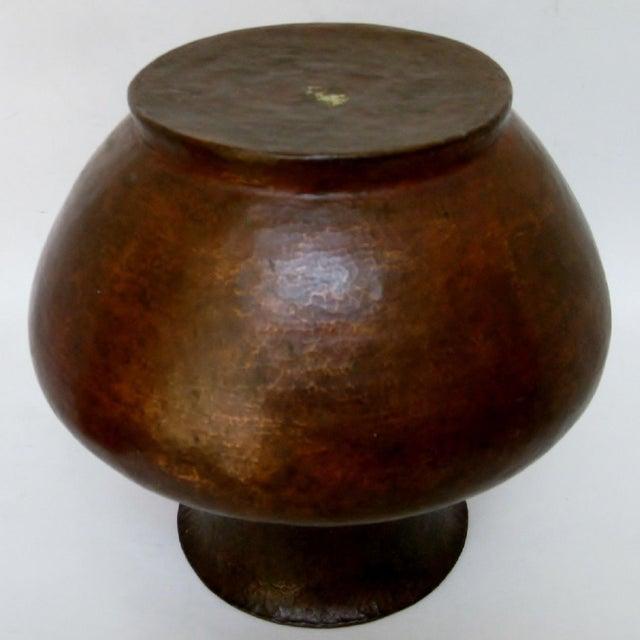 Vintage Hammered Copper Vase For Sale In Los Angeles - Image 6 of 6