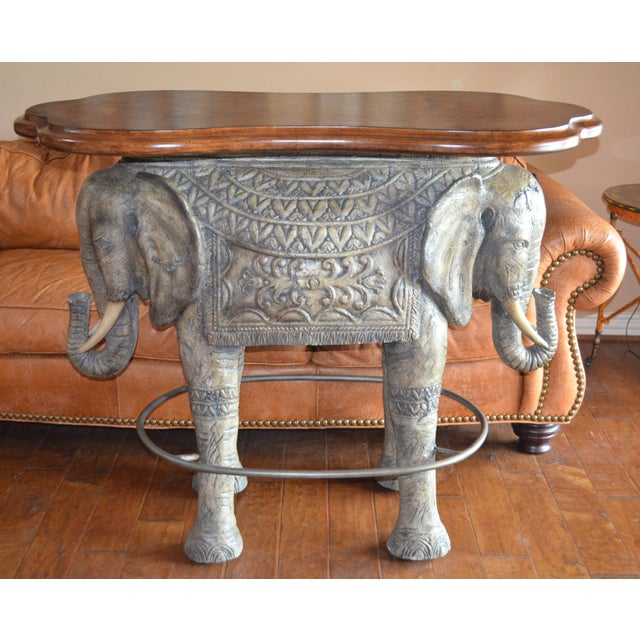 1990s 1990s Asian Modern Elephant Bar Table For Sale - Image 5 of 5