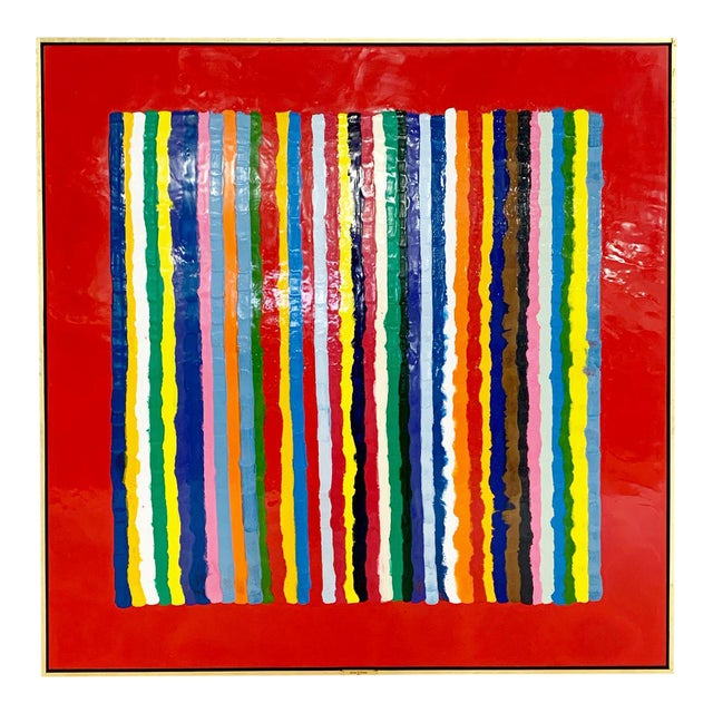 John O'Hara. Sardinia, Red. Encaustic Painting For Sale