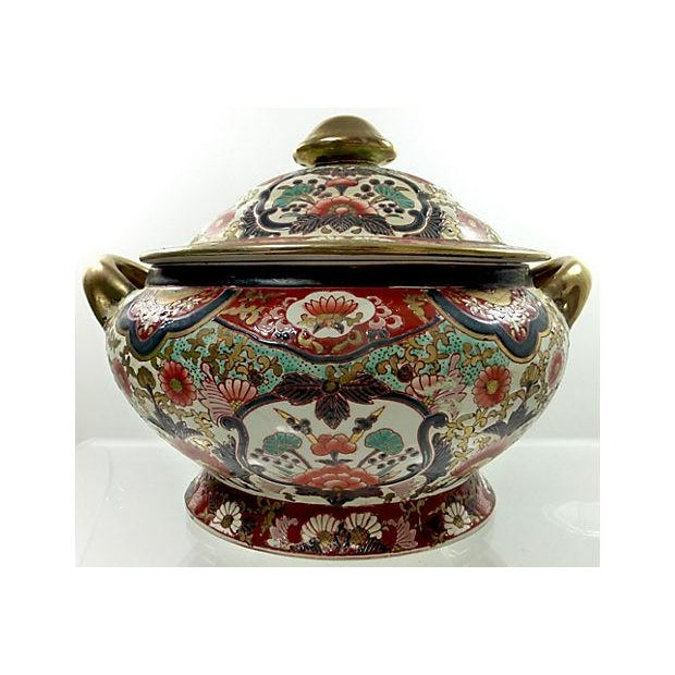 Hand-Painted Decorative Chinese Tureen - Image 2 of 7