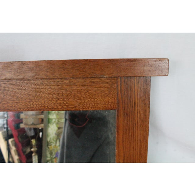 Mid-Century Modern Mid-Century Beveled Mirror in Sturdy Frame For Sale - Image 3 of 7