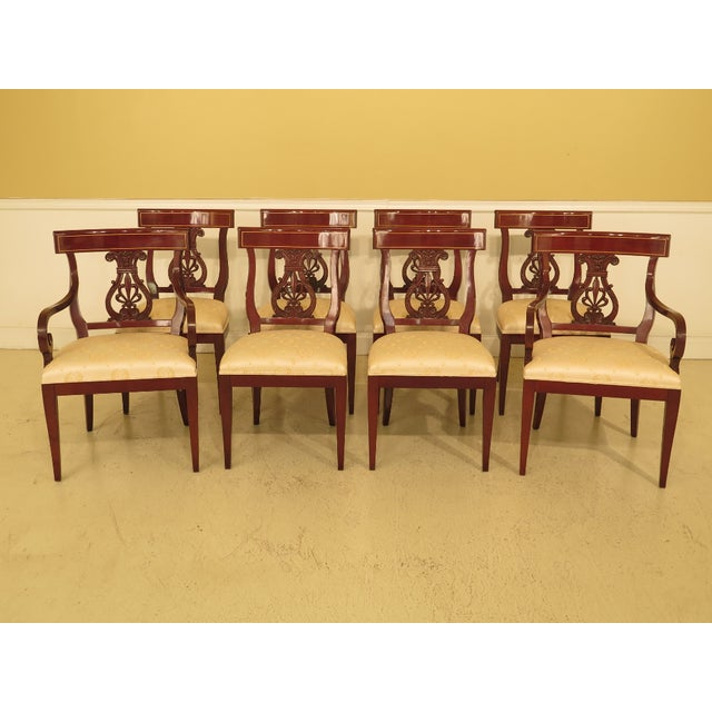 1990s Vintage Kindel Regency Mahogany Dining Room Chairs- Set of 8 For Sale - Image 13 of 13