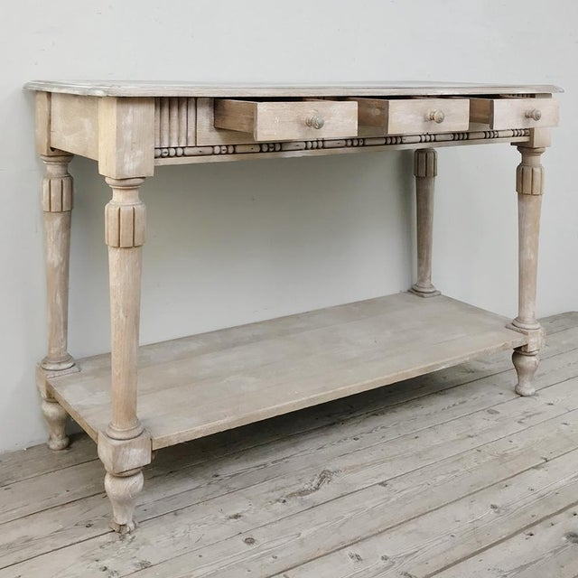 Antique Country French Whitewashed Console ~ Sofa Table is ideal for the relaxed decor, and suitable in the hall, as a TV...