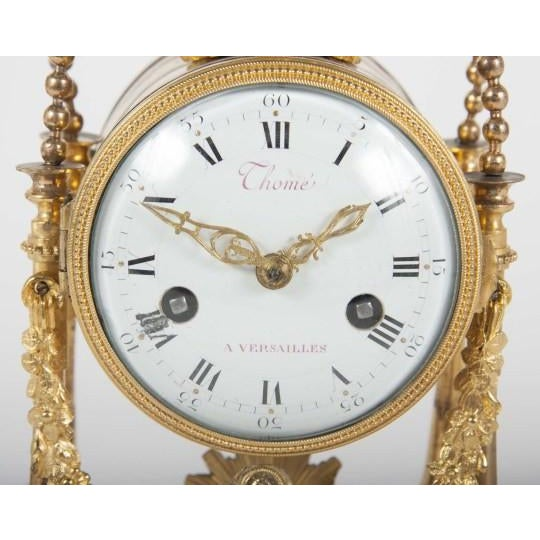 18th Century Gilt Bronze French Portico Clock For Sale In New York - Image 6 of 12