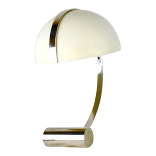 Bungalow 5 Packard White Table Lamp With Nickel Base For Sale