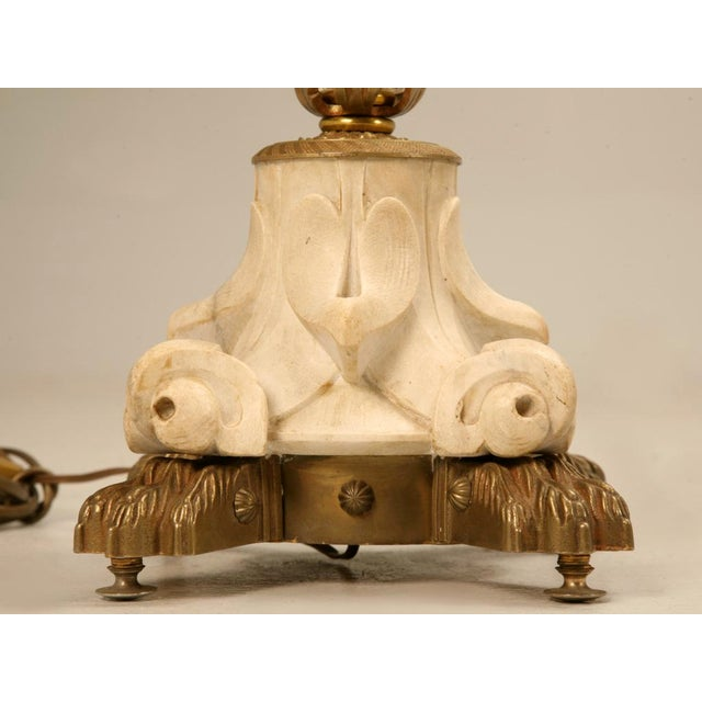 Exquisite Vintage French Crystal, Bronze and Marble Table Lamp For Sale In Chicago - Image 6 of 11