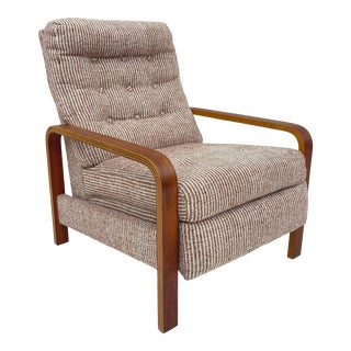 Vintage Modern Bentwood Reclining Lounge Chair For Sale