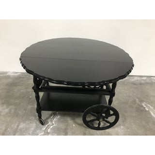 20th Century Country Duncan Phyfe Black Bar Cart Preview