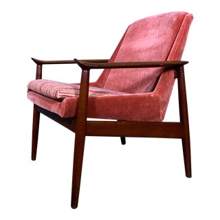 1950s Vintage Arne Vodder & Anton Borg Teak Lounge Chair For Sale