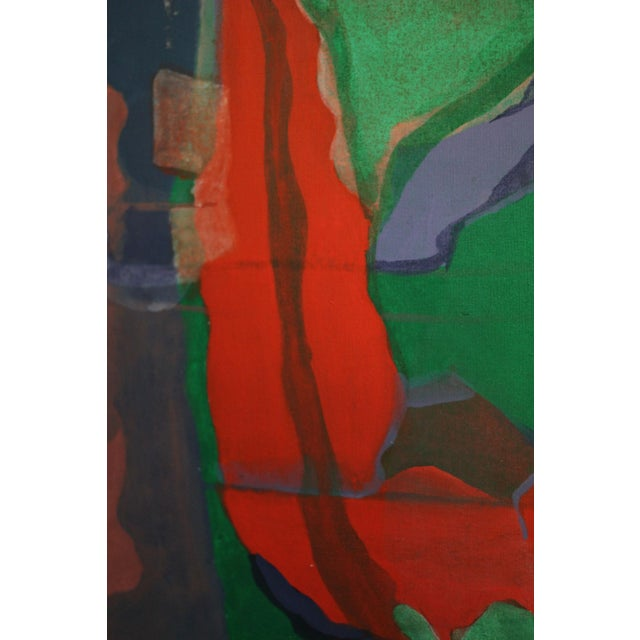Abstract Large Abstract Painting Signed Thomas '82 For Sale - Image 3 of 9
