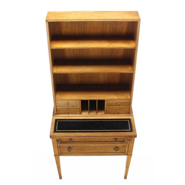 Traditional Baker Petite Secretary Desk/Bookcase For Sale - Image 6 of 11
