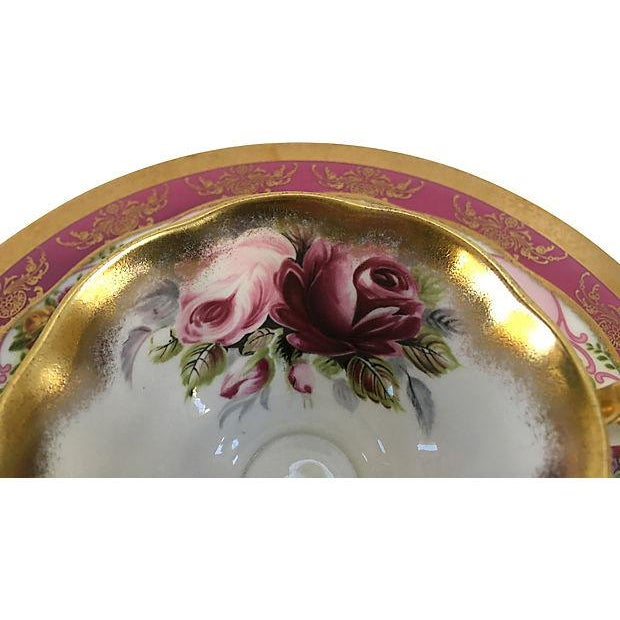 Pink Vintage Mismatched Porcelain Place Setting - Set of 5 - Image 3 of 9