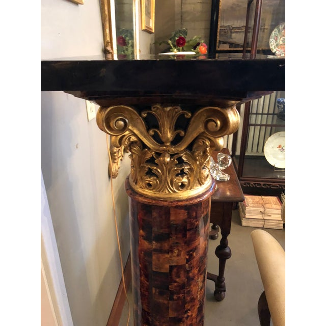 Shell 1900s Louis XV Gilt Corinthian and Verified Tortoise Shell Pedestals - a Pair For Sale - Image 7 of 11