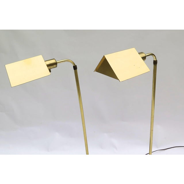 Mid-Century Modern Vintage Cedric Hartman Style Floor Lamps - a Pair For Sale - Image 3 of 5