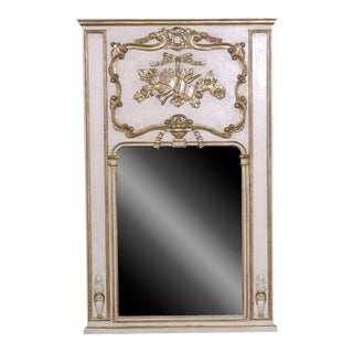 Italian Hand Painted Mirror For Sale