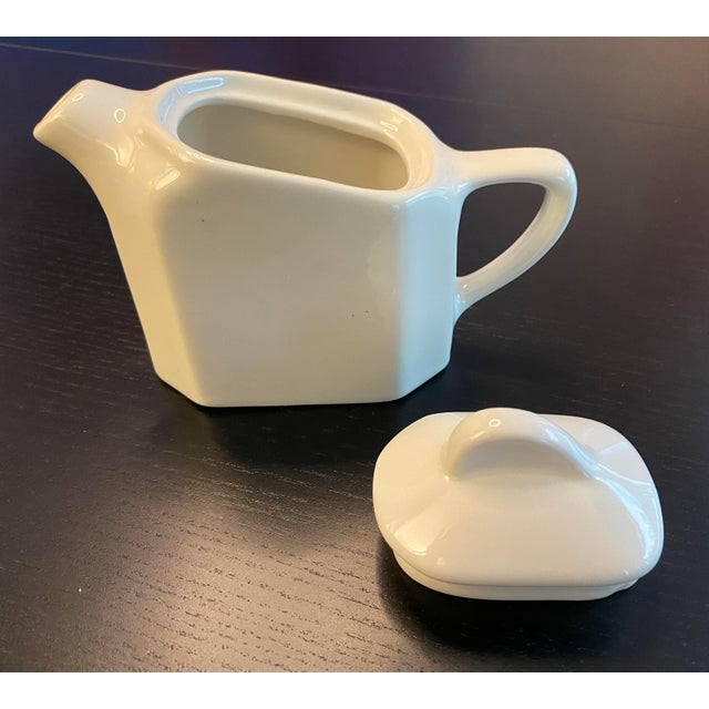 White Tea For Two Twin Tea Set With Matching Trivet by Hall Pottery - 5 Piece Set For Sale - Image 8 of 12