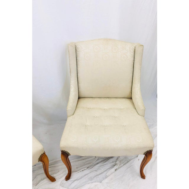 Wood Pair Vintage French Style Side Chairs For Sale - Image 7 of 12
