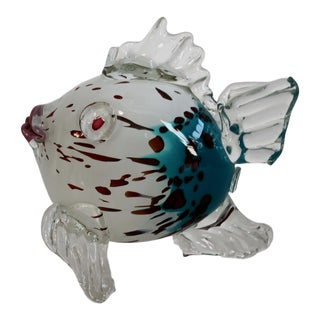 Murano Glass Multicolor Fish For Sale