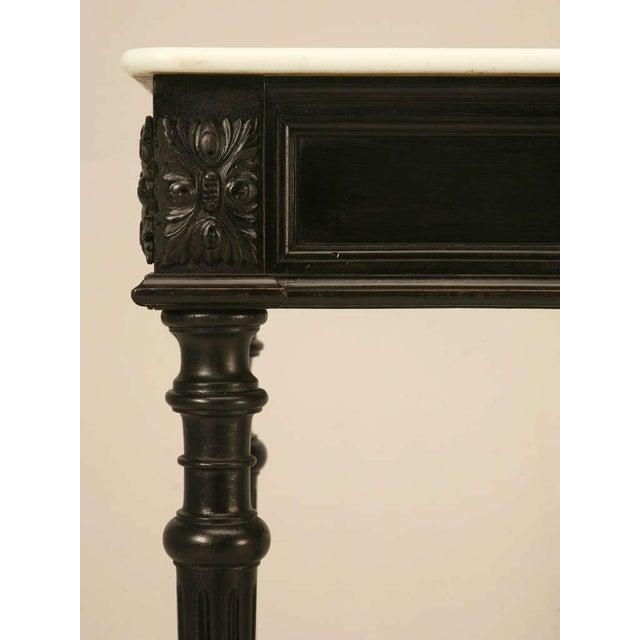 Ebonized Antique French Louis XVI Sofa Table For Sale - Image 10 of 10