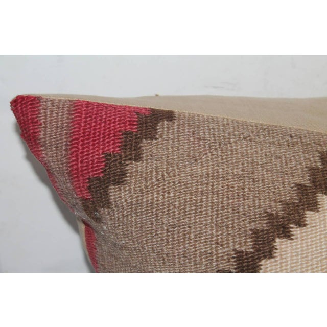 Monumental Early Navajo Weaving Pillow For Sale - Image 4 of 5