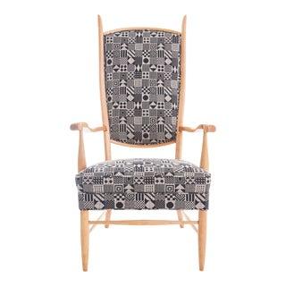 Mid Century Edward Wormley for Dunbar High Back Arm Chair For Sale